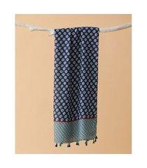 lenço estampado - lenço chelsea cor: azul - tamanho: único