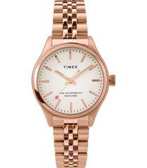 women's timex waterbury indiglo heart bracelet watch, 34mm