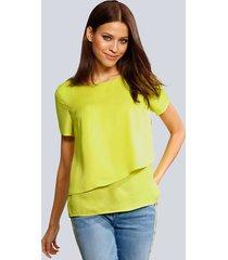 blouse alba moda limoengroen