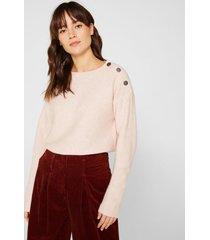 sweater con lana rosa pálido esprit