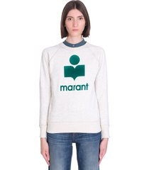 isabel marant étoile milly sweatshirt in grey leather