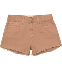 l'agence women's ryland high-rise frayed shorts - riviera blue - size 24 (0)