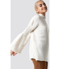 trendyol balloon sleeve knitted sweater - white