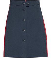 diana mini a-line sk kort kjol blå tommy hilfiger
