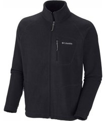 columbia vest men fast trek ii full zip fleece black-s