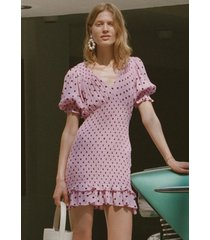 faithfull the brand margherita mini dress sylve dot