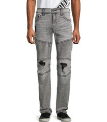 true religion men's moto slim-fit jeans - grey - size 40