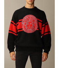 versace sweater versace wool pullover with jacquard medusa logo