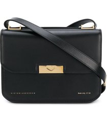 victoria beckham eva foldover shoulder bag - black