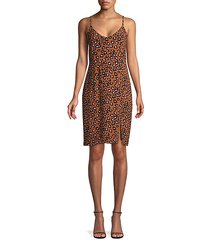 leopard-print slip dress