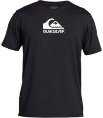 quiksilver men's big & tall solid streak short sleeve rashguard