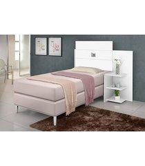 cabeceira box acapulco 0,90 m branca j&a móveis