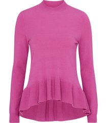 jumper vmgin happy ls highneck ruffle blouse