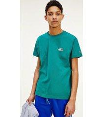polera de algodón orgánico con logo verde tommy jeans