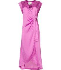 mouwloze midi-jurk rouet  paars