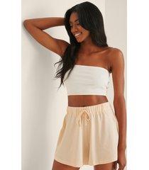 na-kd lingerie soft comfort shorts - beige