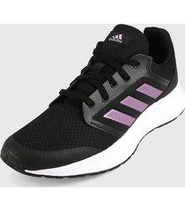 tenis running negro-rosa-blanco adidas performance galaxy 5
