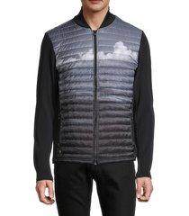greyson men's mohegan mixed-media jacket - arctic - size xxl