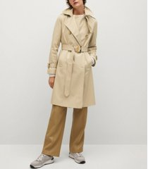 belt cotton-blend trench