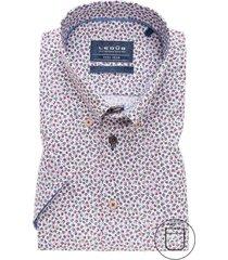 korte mouw overhemd ledub modern fit print