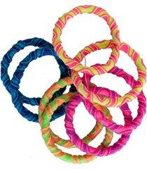 elásticos de cabelo ania store kit multicolorido