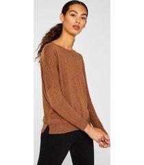 sweater con lana marrón esprit