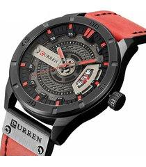 reloj hombre curren 8301 - rojo