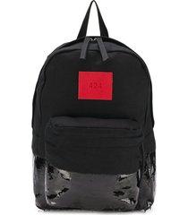 424 vinyl panelled backpack - black