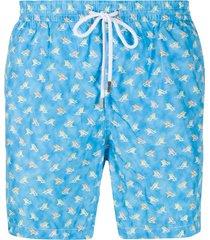 barba chair print swim shorts - blue
