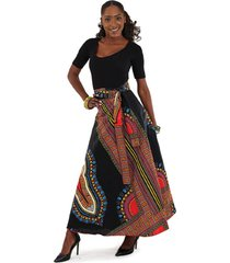 african dashiki, maxi skirt, made in ghana, 100% cotton