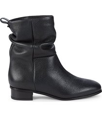 slouchy leather booties