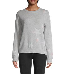 360 cashmere women's shadow star cashmere sweater - dove - size m