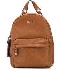 liu jo multi-pocket backpack - brown