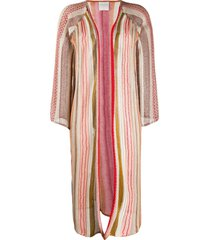 forte forte embroidered draped cardigan - neutrals