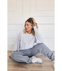 basic oversized sweatshirt, grey