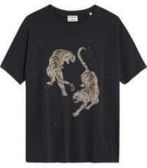 catwalk junkie t-shirt tigre dark grey