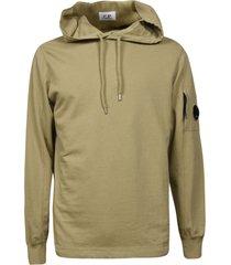 c.p. company light fleece hooded sweatshirt