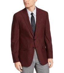 calvin klein men's slim-fit jacquard sport coat