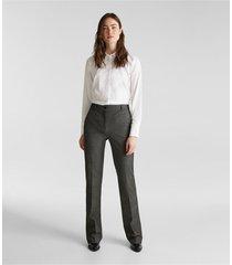 pantalón bootcut medium rise gris esprit