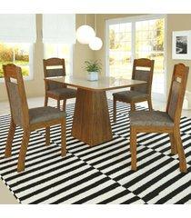 mesa de jantar 4 lugares hadassa zara seda/malta - viero móveis