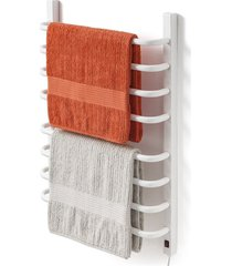 toalheiro térmico 220v para 2 toalhas fio lado direito branco
