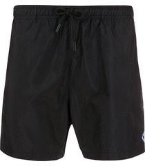 marcelo burlon county of milan embroidered logo swim shorts - black