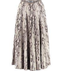 msgm python print faux leather skirt