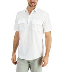 alfani men's popover cargo woven shirt, created for macy's