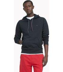 tommy hilfiger men's essential solid popover hoodie jet black - xs