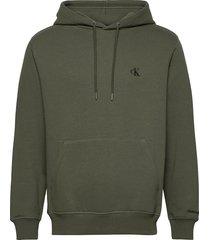 ck essential regular hoodie hoodie trui groen calvin klein jeans
