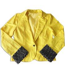casaco liminha doce bolinhas amarelo