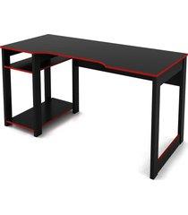 mesa gamer preto /vermelho tecno mobili - preto - dafiti