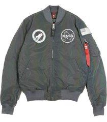 ma-1 nasa rainbow reflective bomber jacket