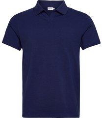 m. lycra polo t-shirt polos short-sleeved blauw filippa k